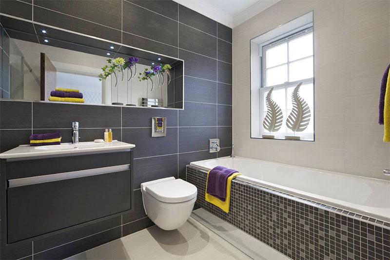 nhà vệ sinh trang trí thẩm mỹ và đầy đủ công năng sử dụng