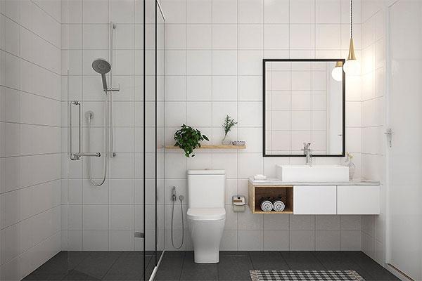 sử dụng ánh sánh cho phòng tắm nhỏ