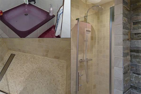 sử dụng vách tắm đứng để tiết kiệm không gian