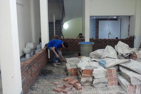 xây tường mới trên nền móng cũ