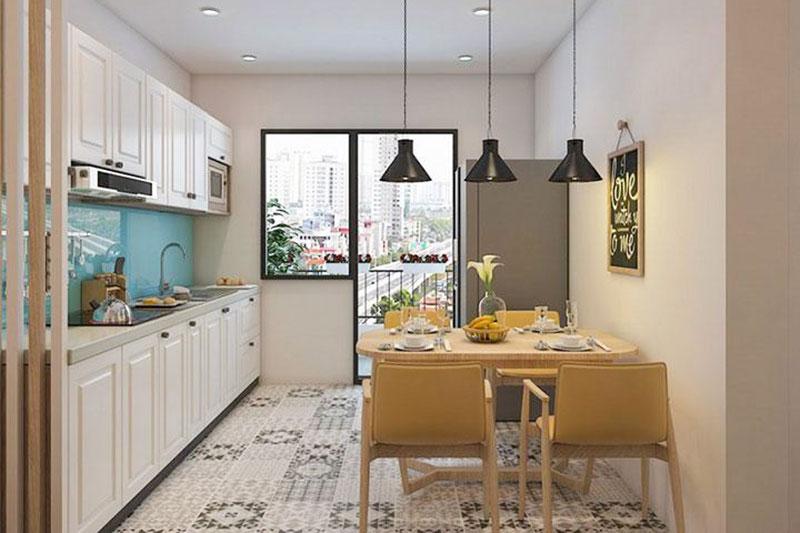 cải tạo không gian bếp căn hộ chung cư 60m2