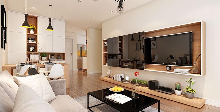 cải tạo không gian phòng khách nhà cũ