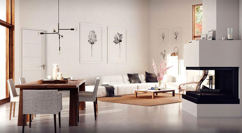 lựa chọn tranh treo tường phù hợp với không gian nội thất