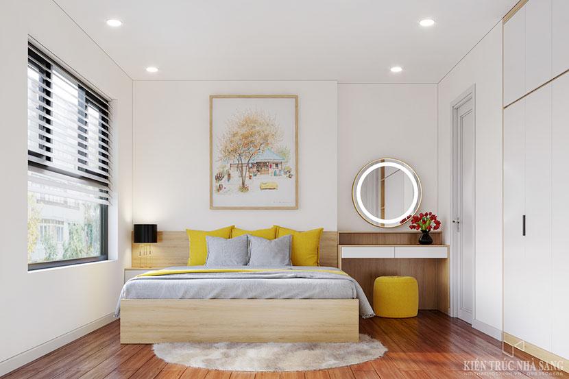 phòng ngủ với thiết kế trẻ trung hiện đại căn hộ chung cư Homeland Long Biên