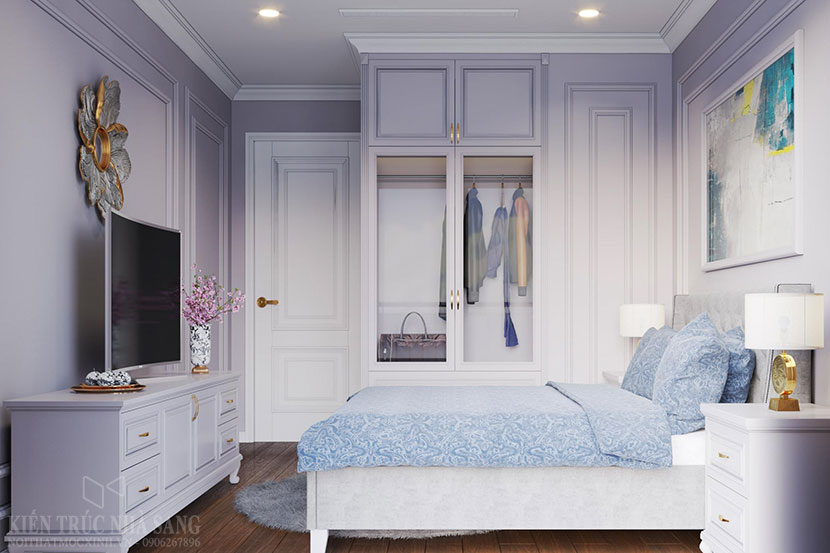 thi công nội thất chung cư 3 phòng ngủ tân cổ điển 1