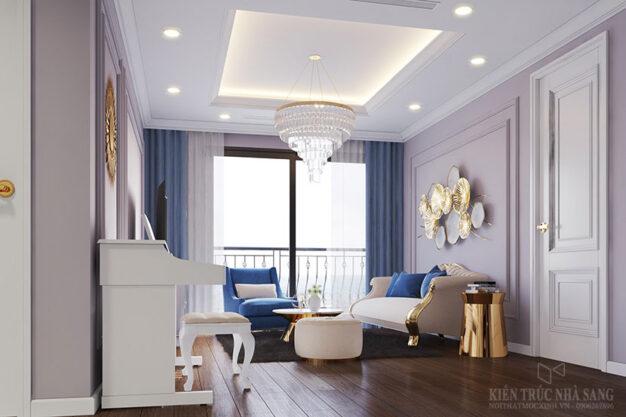 thi công nội thất chung cư 3 phòng ngủ tân cổ điển 3