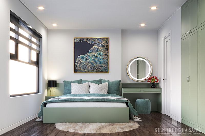 thiết kế thi công nội thất phòng ngủ phong cách tại chung cư Homeland