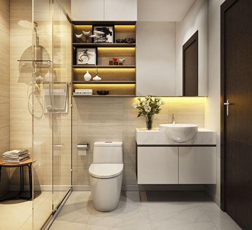 thiết kế vệ sinh tiết kiệm không gian