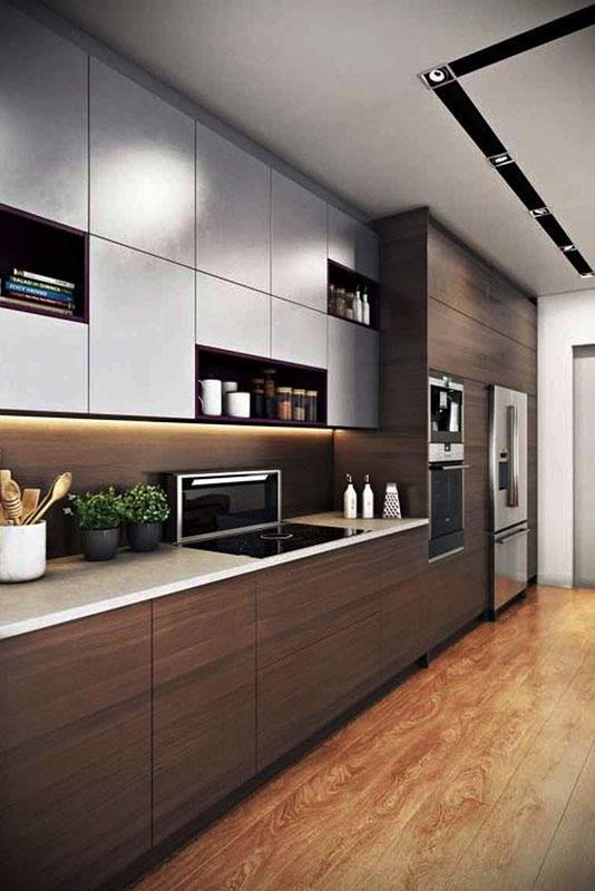 tủ bếp tiện nghi hiện đại