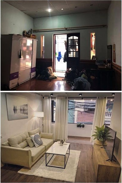 cải tạo căn hộ chung cư cũ tuyệt đẹp