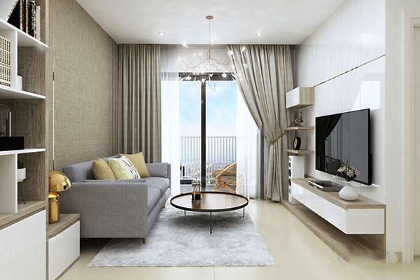 cải tạo không gian phòng khách chung cư cũ