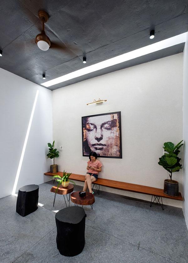 phối màu nội thất cải tạo không gian nhà phố cũ