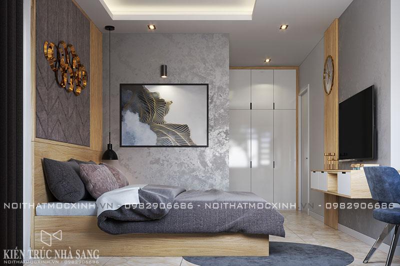 thiết kế nội thất phòng ngủ bố mẹ hiện đại N03T7 khu đoàn ngoại giao
