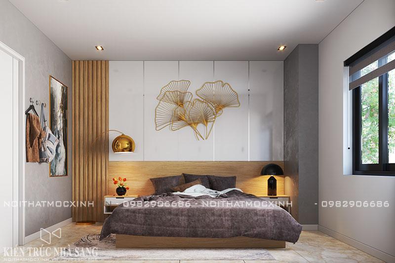 thiết kế nội thất phòng ngủ hiện đại N03T7 khu đoàn ngoại giao