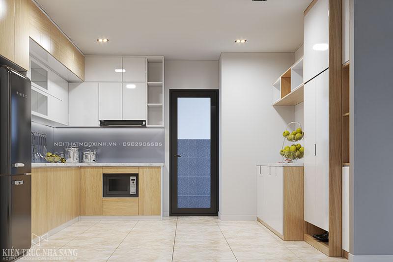 thiết kế thi công nội thất tủ bếp cho căn hộ chung cư
