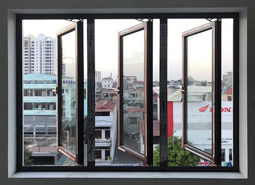 cửa sổ mở nhôm xingfa