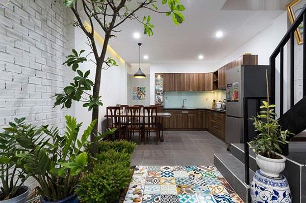 hoàn thiện không gian bếp nhà lô phố