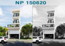 mẫu thiết kế nhà phố phong cách châu âu 4x27m