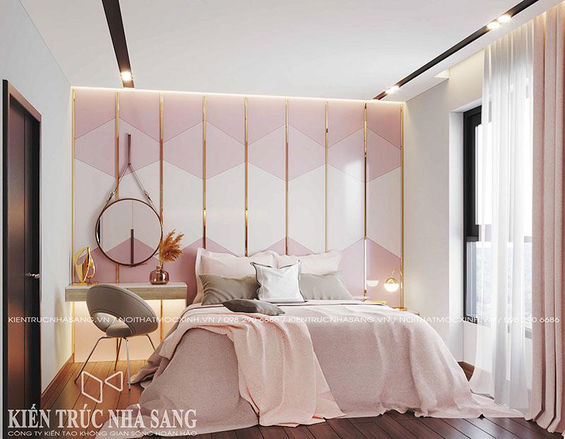 thi công hoàn thiện nội thất phòng ngủ con gái chung cư imperia