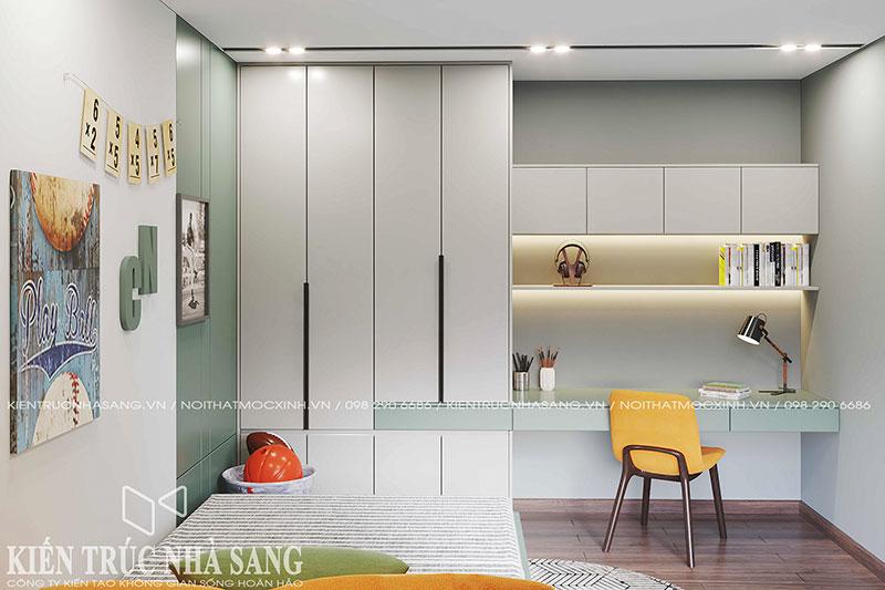 thiết kế nội thất chung cư phòng ngủ trẻ em imperia