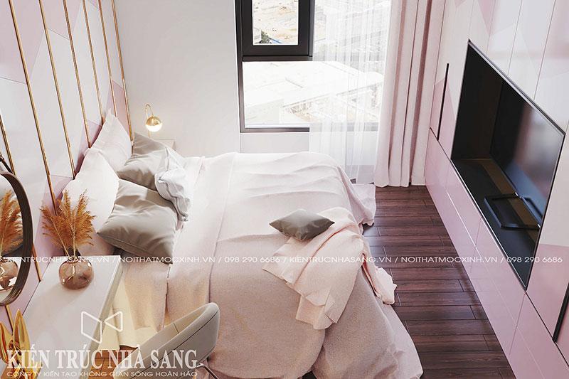 thiết kế thi công nội thất căn hộ 3 phòng ngủ chung cư imperia
