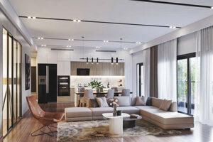 thiết kế thi công trọn gói nội thất căn hộ 3 phòng ngủ chung cư cao cấp imperia