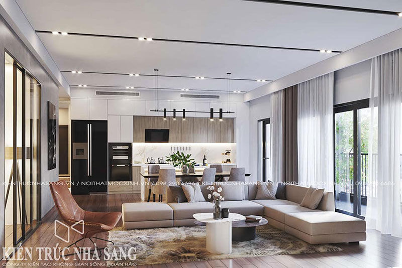 thiết kế thi công nội thất trọn gói chung cư tại Hà Nội