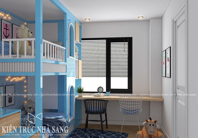 có nên thuê thiết kế nội thất chung cư phòng ngủ trẻ con