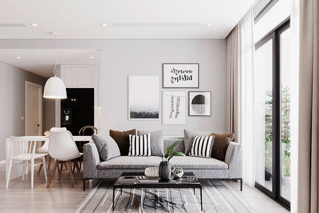 phong cách thiết kế nội thất chung cư đơn giản