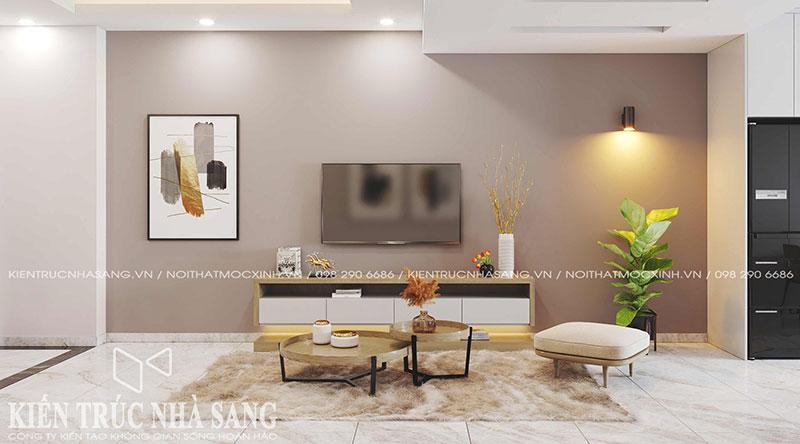 thiết kế kệ ti vi phòng khách đơn giản hiện đại