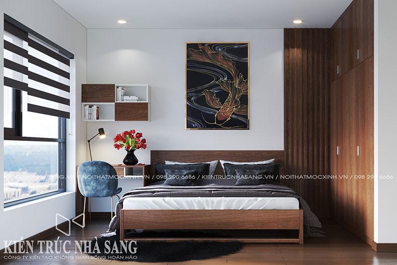 thiết kế nội thất 1 phòng ngủ
