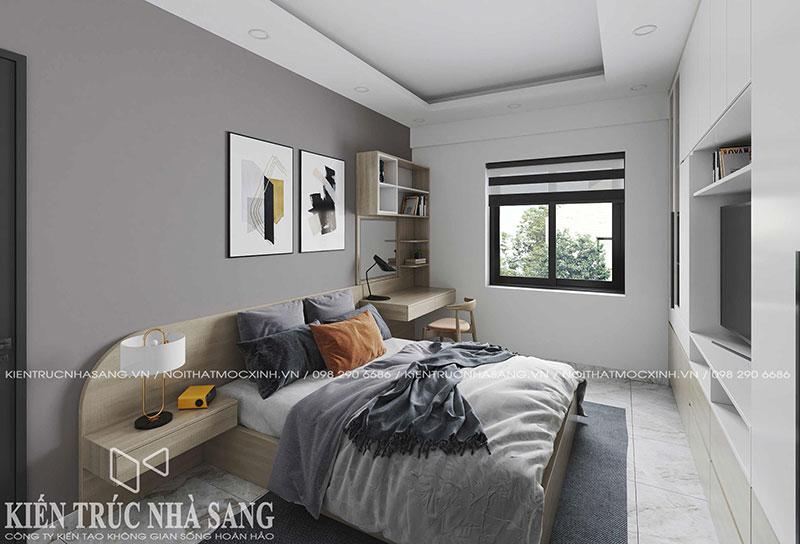 thiết kế nội thất 2 phòng ngủ chung cư cũ