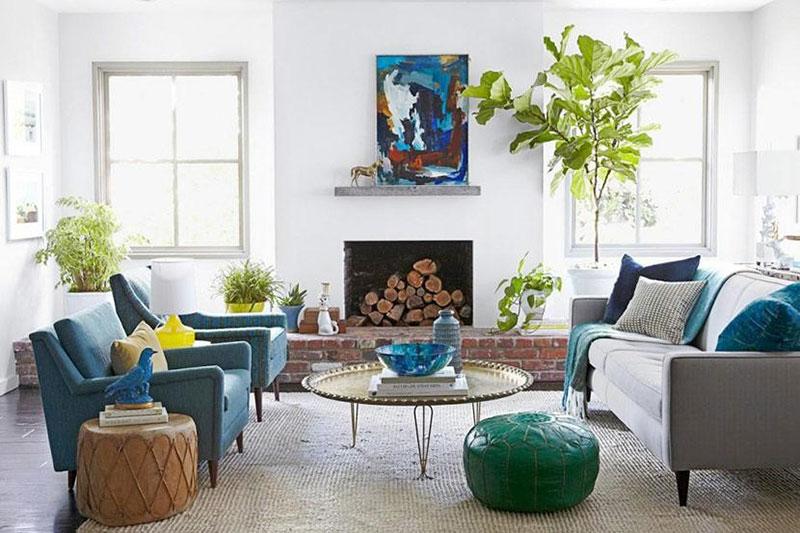 thiết kế nội thất chung cư đơn giản đưa không gian xanh vào nhà