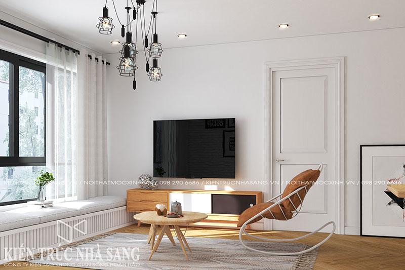 thiết kế nội thất chung cư phòng khách đơn giản