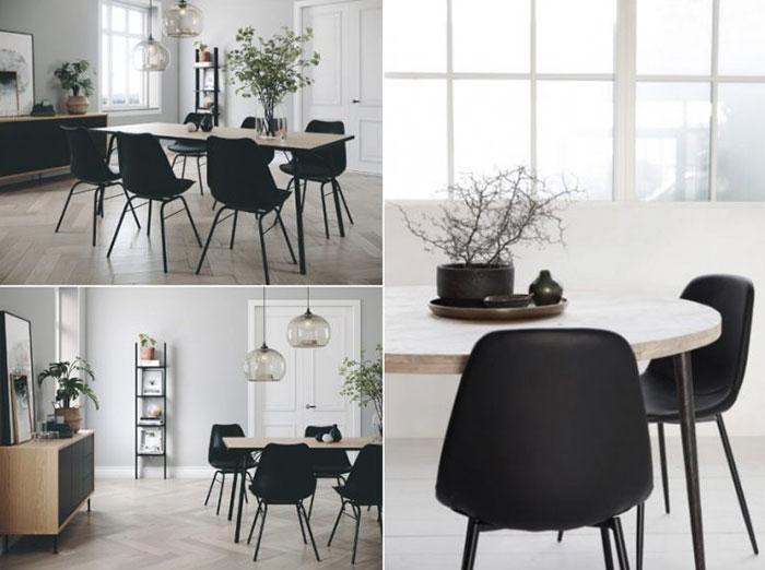 thiết kế nội thất phòng ăn chung cư đơn giản hiện đại