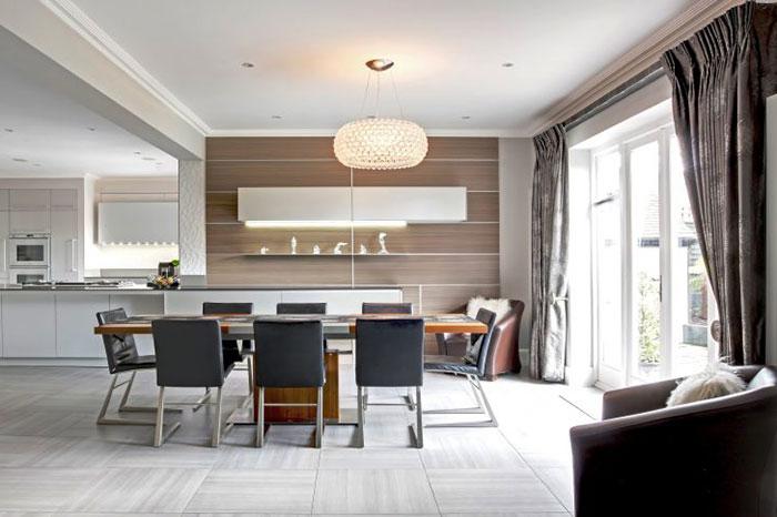 thiết kế nội thất phòng ăn chung cư hiện đại