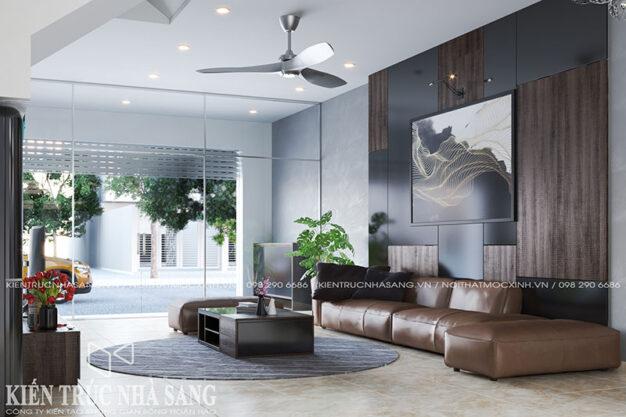 thiết kế nội thất phòng khách nhà ống tuyệt đẹp