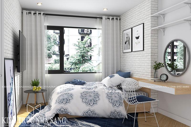 thiết kế nội thất phòng ngủ phong cách độc đáo