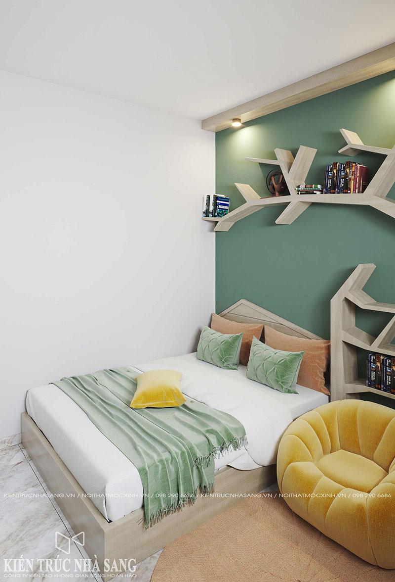 thiết kế nội thất phòng ngủ trẻ em căn hộ chung cũ 2 phòng ngủ