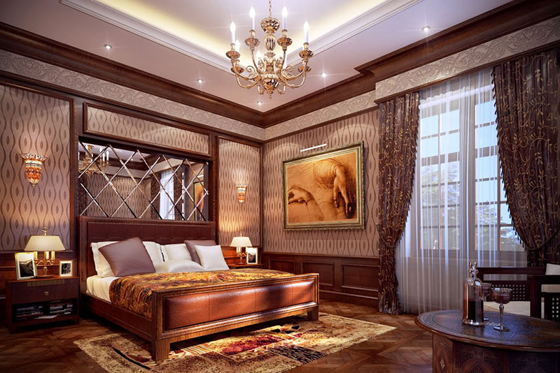 thiết kế phòng ngủ phong cách cổ điển 3 phòng ngủ
