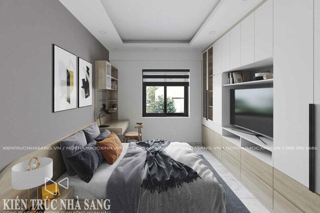 thiết kế phòng ngủ phong cách hiện đại cho căn 3 phòng ngủ