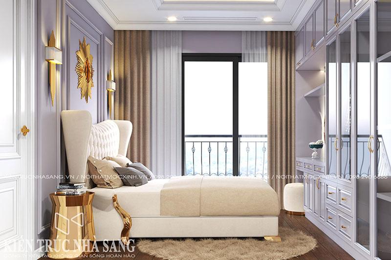 thiết kế phòng ngủ phong cách tân cổ điển cho căn 3 phòng ngủ