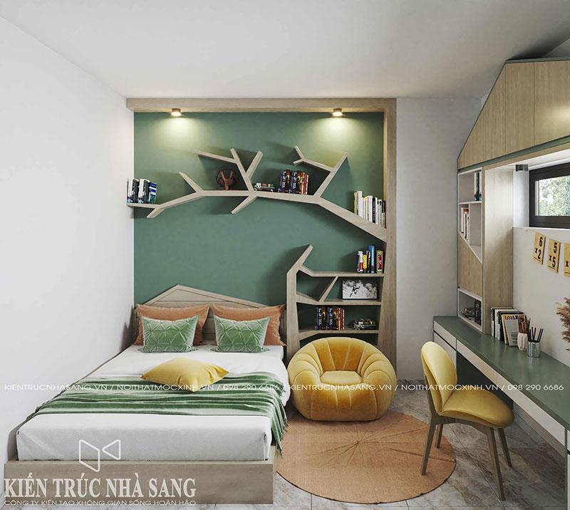 thiêt kế phòng ngủ trẻ em không gian sinh động