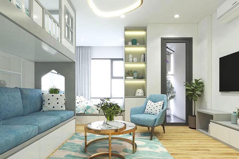 ý tưởng thiết kế căn hộ gần 30m2