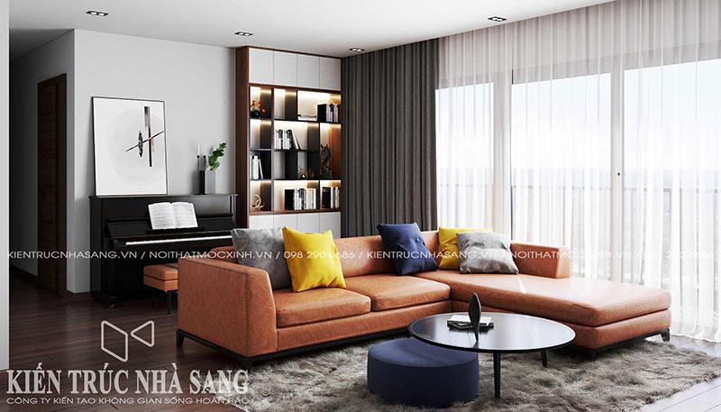 mẫu thiết kế nội thất phòng khách chung cư đẹp sang trọng