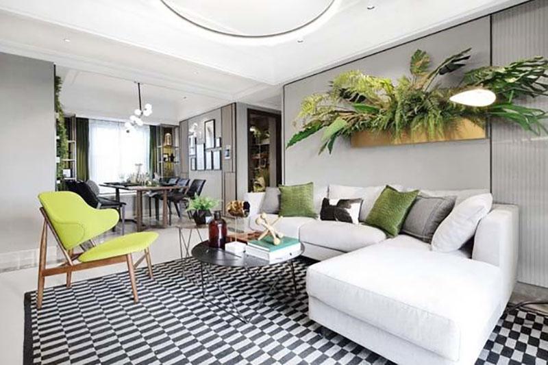 thiết kế nội thất hiện đại sử dụng màu sắc trang nhã