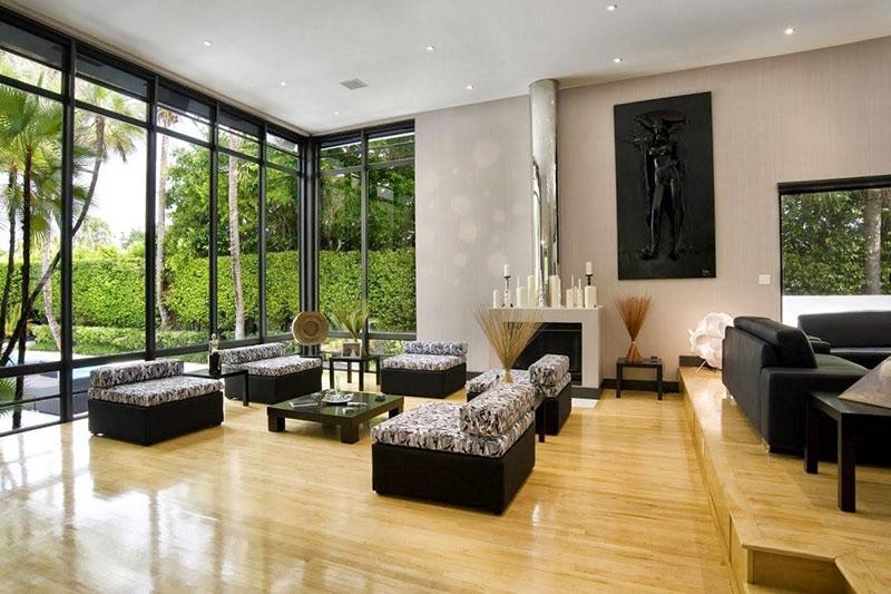 thiêt kế nội thất hiện đại với không gian mở