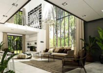 thiêt kế nội thất phong cách hiện đại không gian mở