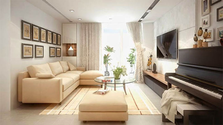 thiết kế nội thất phòng khách 90m2