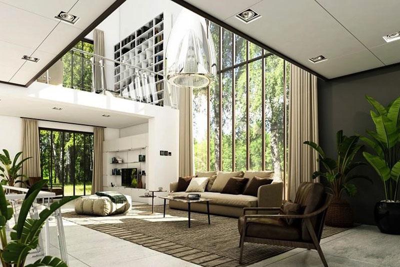 thiết kế nội thất theo phong cách hiện đại đẹp